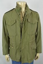 Vtg Army Military Issue OG 107 Mens Cold Weather Field Jacket Coat Mens Sz Small