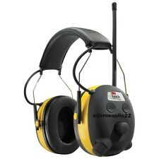 3M TEKK WORK TUNES EARMUFF EAR HEARING PROTECT, AM/FM RADIO MP3, 24dB LESS NOISE