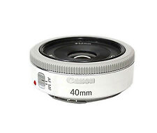 Canon EF 40mm f/2.8 STM Pancake White Lens   -Bulk Package