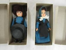 AMISH DOLL Boy GIRL IN BOX W/ HISTORY OF THE AMISH PENNSYLVANIA DUTCH LANCASTER