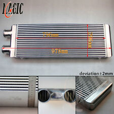 "FMIC 3"" Inlet & Outlet 1 Side Intercooler For Celica MR2 RX7 Eclipse Neon Alloy"