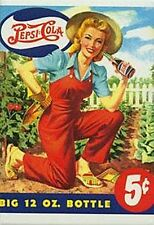 Pepsi Cola Gardening Girl fridge magnet (ck)