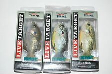 "3 lures koppers live target surface lure sunfish 3"" 7/16oz topwater assortment"
