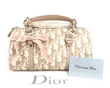 Auth CHRISTIAN DIOR Trotter PVC Beige Mini Doctor Bag Made In Italy W/Dust Bag