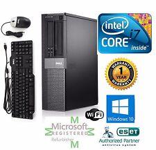Dell 790 Desktop Computer Intel Core i7 Windows 10 pro 64 1TB 3.4ghz 16gb