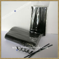 "1000pcs 4""  BLACK Metallic Twist Tie for Candy Lollipop Cello Bag"
