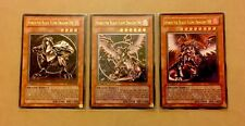 Horus The Black Flame Dragon LV4,6 and 8 SOD-EN006/7/8 Ultimate Rare 1st Edition