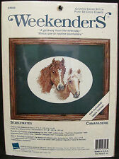 """Weekenders """"Stablemates Camaraderie"""" Horse Counted Cross Stitch Cowboy Western"""