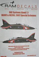 1/32 BAE Hawk T.1 XX307 & XX205 2007 Special Schemes Decals by RAM Decals