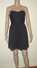 J CREW Arabelle Silk Chiffon Dress Size 0 Newport Navy Strapless  29286 New