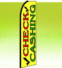 Feather Swooper Flutter Tall Banner Sign Flag - CHECK CASHING