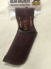 Bear Archery Hip QUIVER  by Neet Products Brown Leather Left Hand