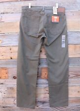 DOCKERS Mens Classic 5-Pocket Olive Straight Fit Soft Pants Size 38 x 34 NEW!