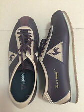VINTAGE LE COQ SPORTIF WENDON BROWN ROOSTER LEATHER SNEAKERS WOMEN JAPAN SIZE 25