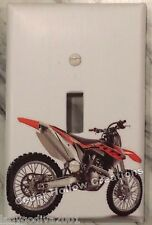 Orange Dirt Bike - Rear View - Light Switch Cover/Switchplate - Single Toggle
