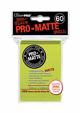 60 Ultra Pro Bright Yellow Pro-Matte Deck Protectors. Trading Card Sleeves.