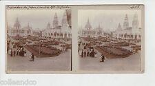 █ Vue Stéréoscopique / Stéréo : EXPOSITION DU JAPON A LONDRES 1910 Jardin █