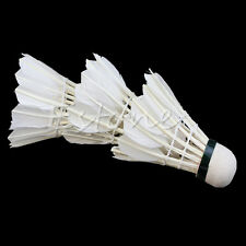 3X Shuttlecocks Training White Goose Feather Badminton Ball Game Sport