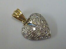 Stunning 9ct Gold CZ Set Heart Pendant