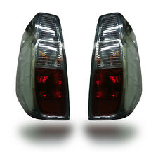 REAR TAIL LIGHTS LAMP BLACK SMOKE RED LENS NISSAN FRONTIER NAVARA D40 05-14