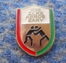 AGROS ZARY POLAND WRESTLING CLUB  1970's SILVER VERSION PIN BADGE