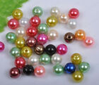 100Pcs 8mm multicolor Round ABS Pearl Spacer loose Beads DIY Findings