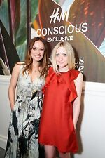 H&M CONSCIOUS EXCLUSIVE DRESS DAKOTA FANNING RECYCLE Ruffle Open Back Dress