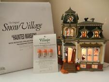 Department 56 - Halloween Haunted Mansion #56.54935 plus EXTRA Orange Bulbs