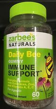 ZARBEES NATURALS DAILY BEE GUMMY IMMUNE SUPPORT 60CT NEW & FRESH