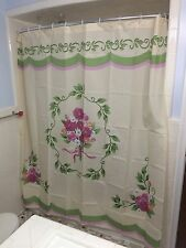 Classic Vintage Flower Bouquet Garland Country Victorian Bath Shower Curtain