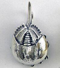 Horseshoe Crab Traditional Charm Jewelry - 925 Sterling Silver Metal - Nautical