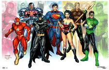 JUSTICE LEAGUE ECCC 2015 LTD EDITION ART PRINT By JIM LEE & ALEX SINCLAIR S&N