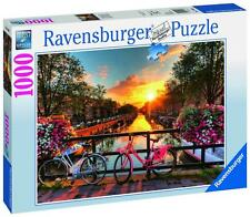 Ravensburger 19606 Bicycles in Amsterdam Colourful Jigsaw Puzzle 1000 Piece New