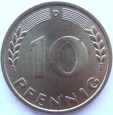 TOP! 10 Pf 1949 D in STEMPELGLANZ SELTEN !!!