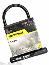 "Kryptonite Keeper 12 Standard 8"" x 4"" Bike Hardened U Lock w/ Mount Bicycle STD"