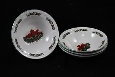GEI Christmas Candles Saucers Holiday Set of 4