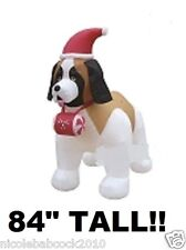 7 FT ST BERNARD DOG LIGHTED CHRISTMAS AIRBLOWN INFLATABLE PROP YARD DECRO
