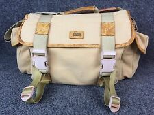 VINTAGE TAN GEMINI CANVAS DSLR SLR CAMERA PHOTOGRAPHY MESSENGER TOTE TRAVEL BAG