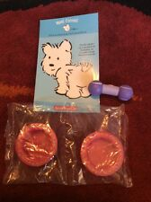 American Girl Doll Pet Dog Coconut Replacement Food Bowls Tennis Balls & Sticker