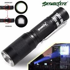 Zoomable 4000LM CREE XM-L Q5 LED Flashlight 3 Mode Torch Super Bright Light Lamp