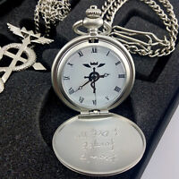 Fullmetal Alchemist Pocket Watch Necklace Ring Edward Elric Anime cosplay Gift