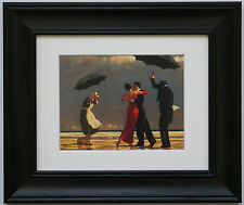 THE Singing Butler by Jack Vettriano incorniciato & MOUNT ART PRINT CORNICE NERA