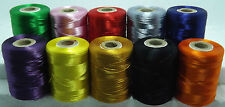 10 x EXTRA STRONG NYLON SEWING THREAD SPOOLS LARGE 200 M HEAVY DUTY ASSORTED