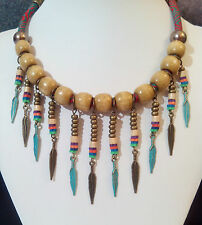 Collar artesanal estilo Boho-Hippie color desigual/Handmade necklace boho-navajo
