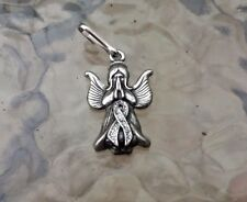 Health 1 Multiple Sclerosis AWARENESS RIBBON ANGEL PEWTER PENDANT or Zipper Pull