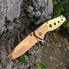 Tac Force Rose Gold copper Collector Spring Open Small Gentlemen Pocket Knife