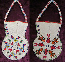 OLD PLATEAU / PLAINS FULLY BEADED POUCH 2 designs front and back