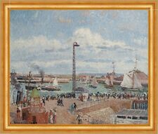 The Pilots Jetty at Le Havre Camille Pissarro Frankreich Hafen Boote B A3 00912