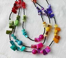 Sonoma Multicolor Shell Style Bead Multistrand Necklace