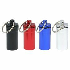 4pc Medium Pill Containers w/Key Chain WATER RESISTANT